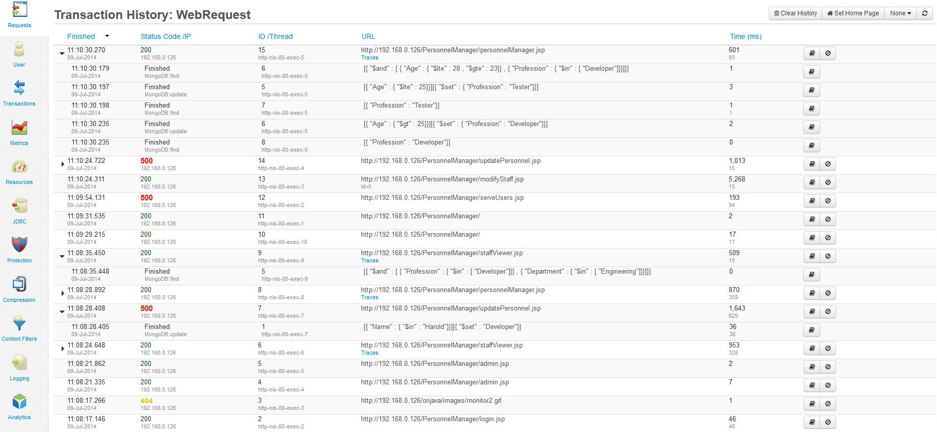 MongoDB - FusionReactor