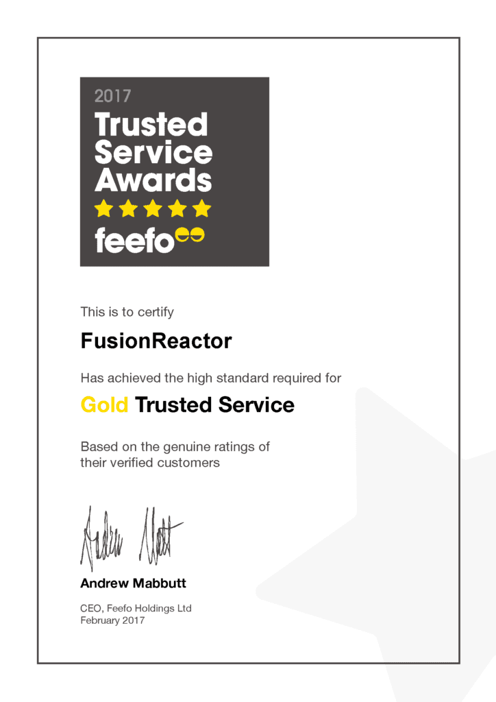 FusionReactor Wins FeeFo Gold Trusted Merchant 2017 Award, FusionReactor