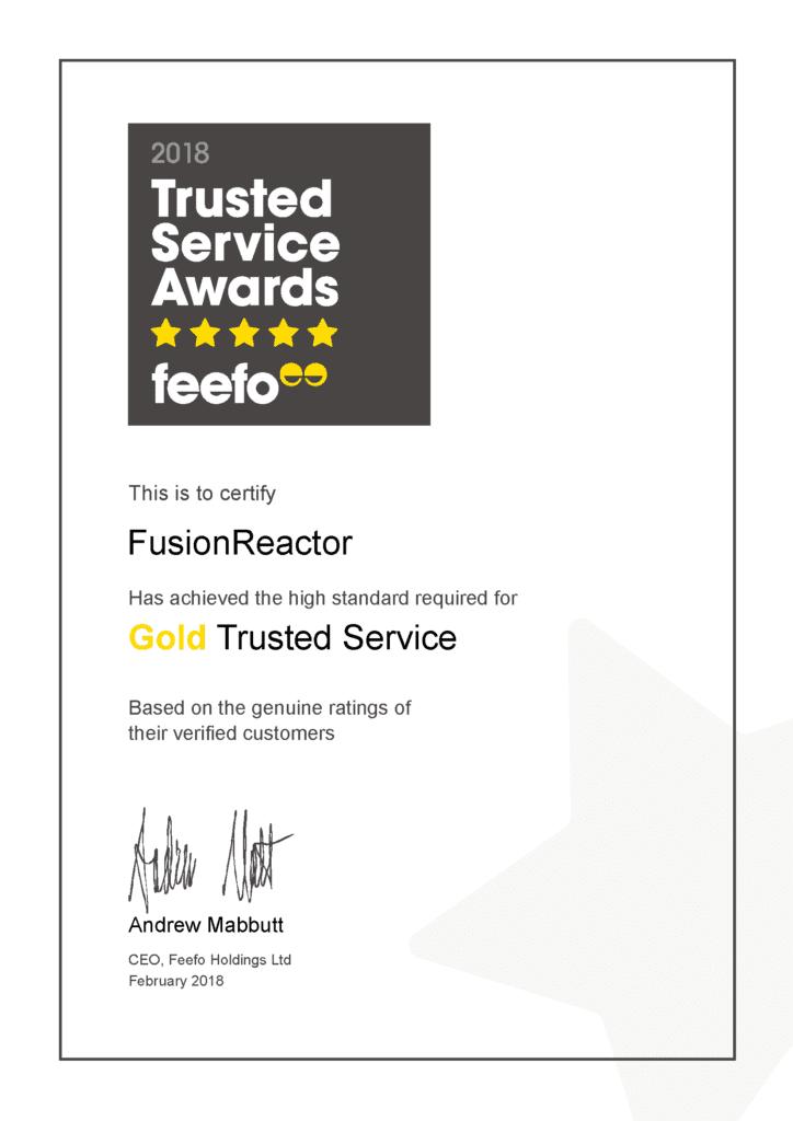 FusionReactor Wins FeeFo Gold Trusted Merchant 2018 Award, FusionReactor
