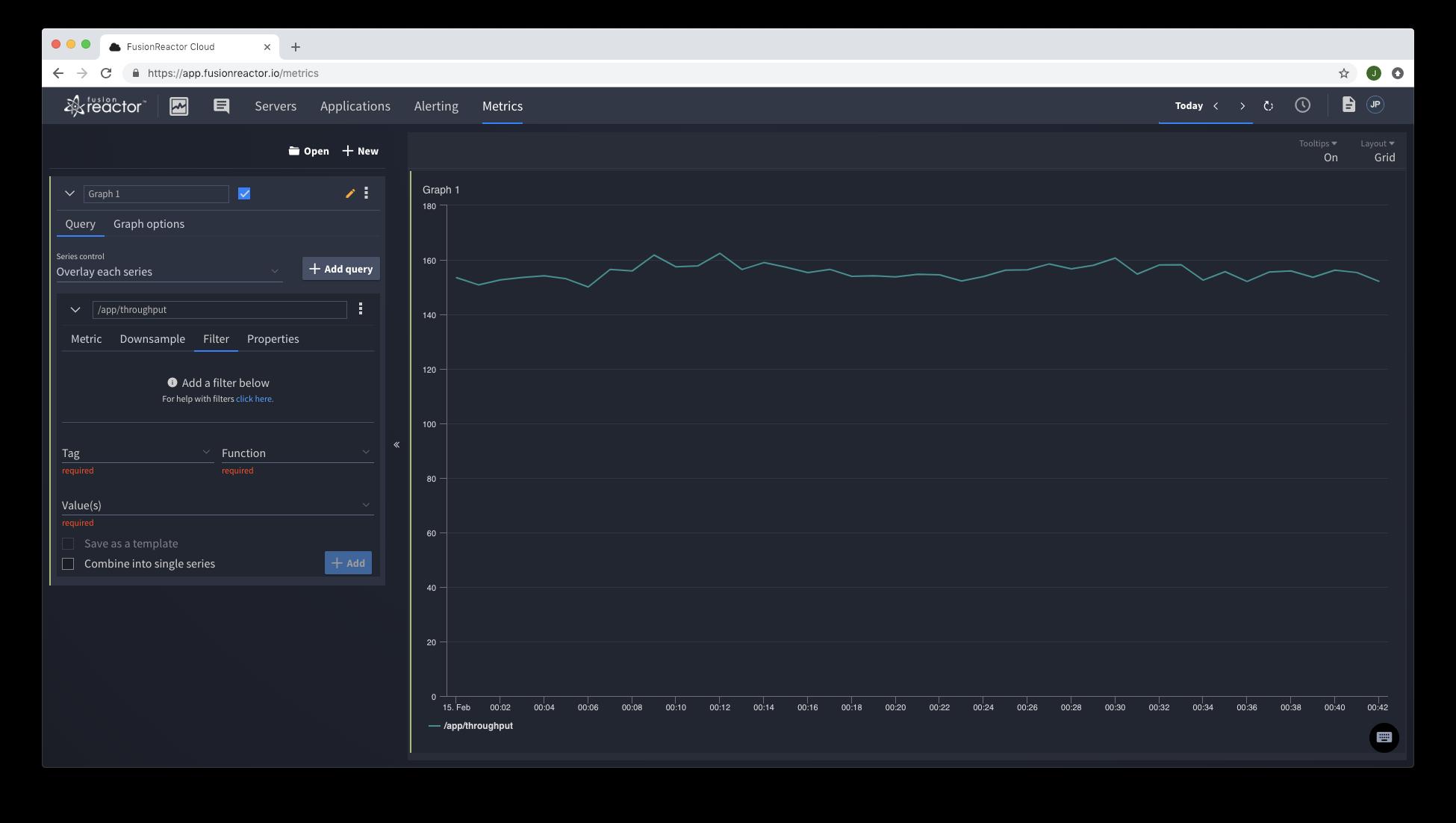 Web Metrics Explorer FusionReactor Hybrid Cloud