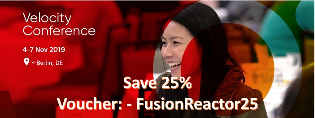25% off Velocity Berlin Tickets, FusionReactor