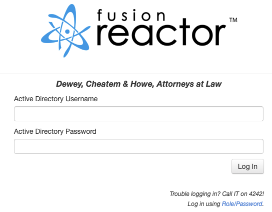 Using Active Directory to Log In to FusionReactor, FusionReactor
