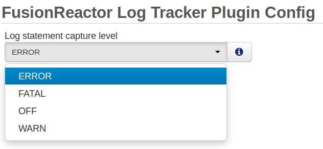Configuring and Disabling log tracking in FusionReactor, FusionReactor