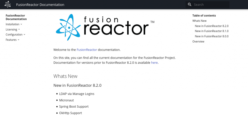 Our move from Confluence to mkdocs, FusionReactor