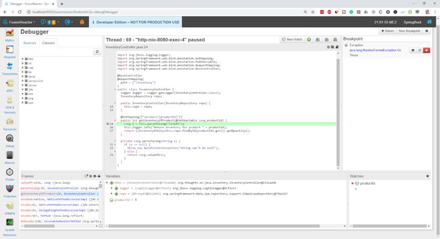 Understanding StackTraces in Java, FusionReactor