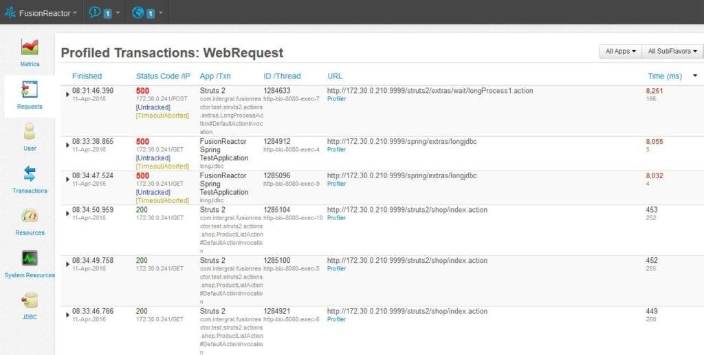 Code Profiler, FusionReactor
