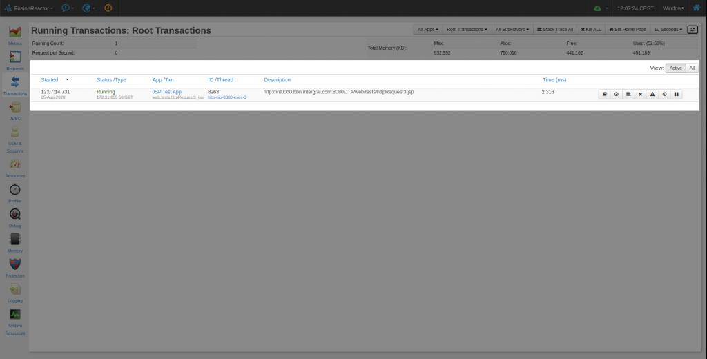 Cloud live mode – just like traditional on-premise FusionReactor, FusionReactor