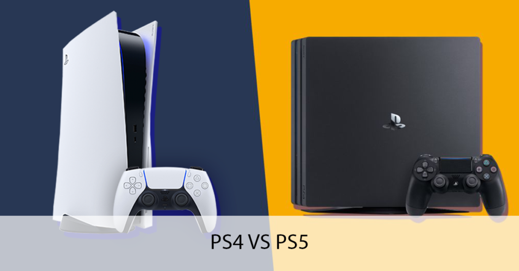 PS4 console & PS5 console