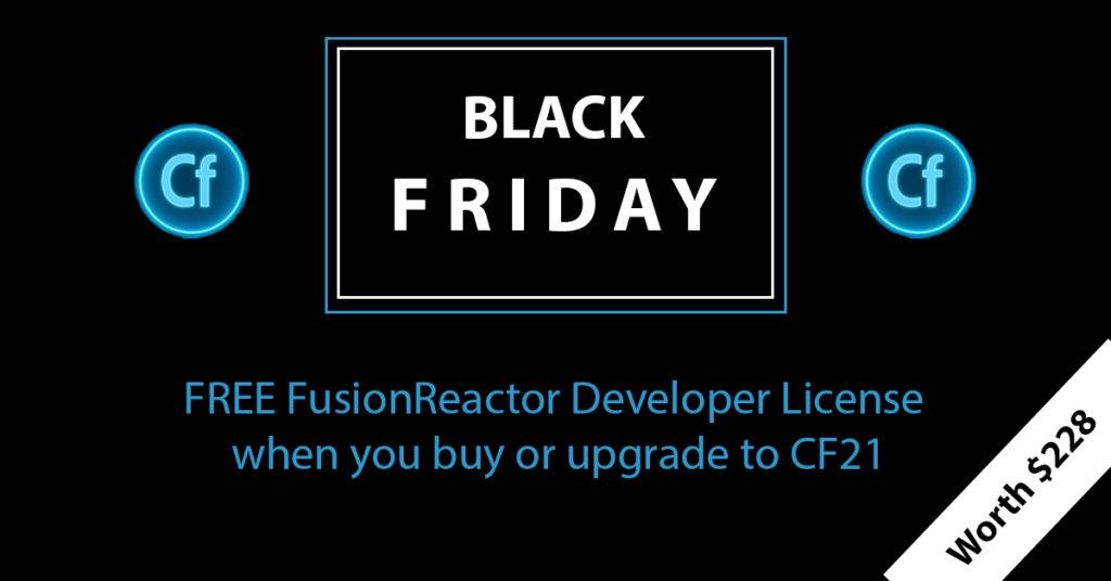 Black Friday Deals, FusionReactor