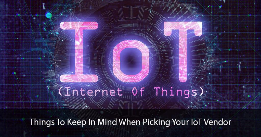 IoT Vendor Title Page