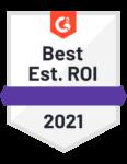 Best Est. ROI 2021 Badge