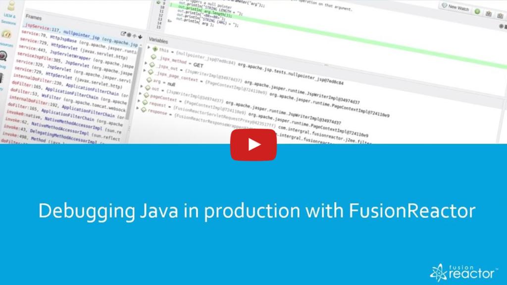 Debugging & Root Cause Analysis, FusionReactor