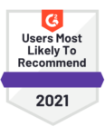 Users Most Likely To Recommend 2021 Badge